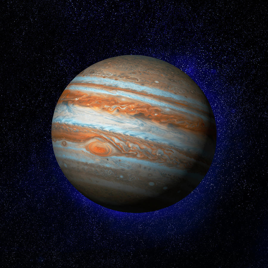 Jupiter & Stars Digital Art by Ian Mckinnell