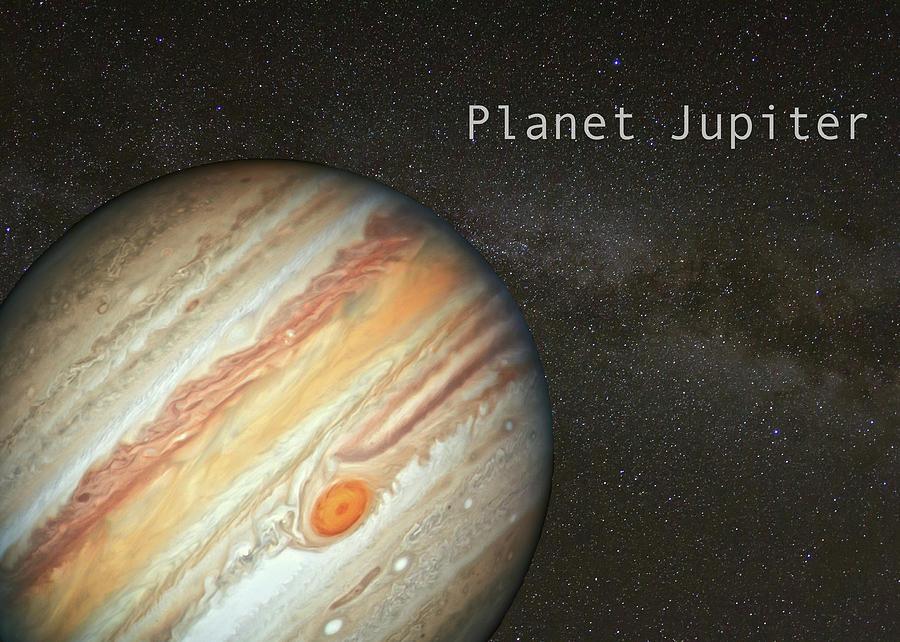 Jupiter in Milky Way Background by Karen Foley