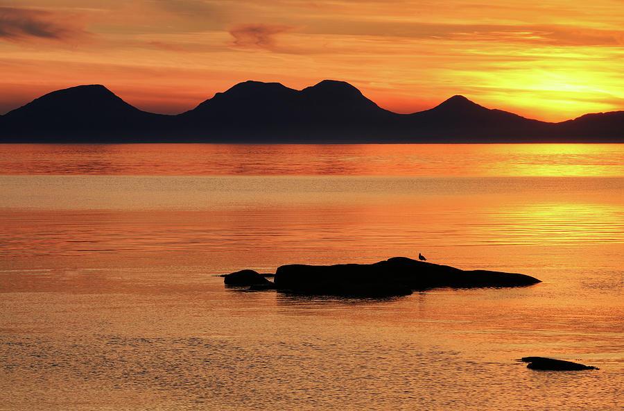 Sunset Photograph - Jura Sunset by Grant Glendinning