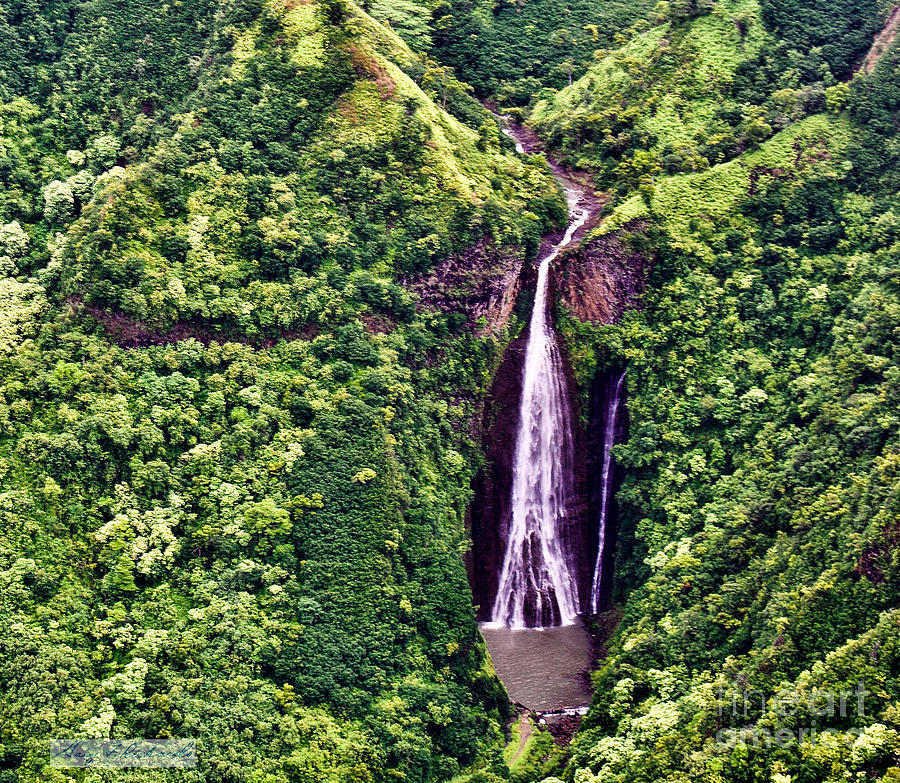 Jurassic Park Waterfall by Gary F Richards