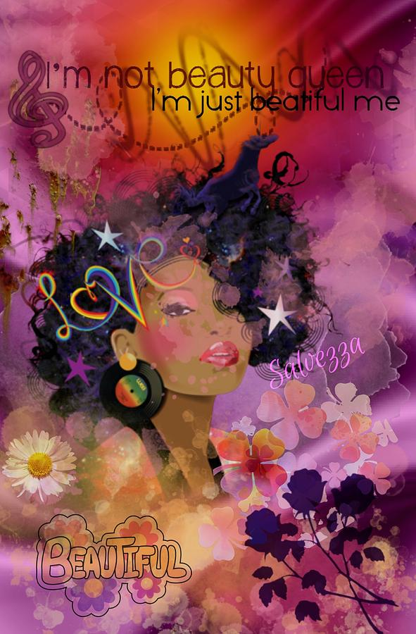 African American Digital Art - Just Beautiful by Susan Chasteen