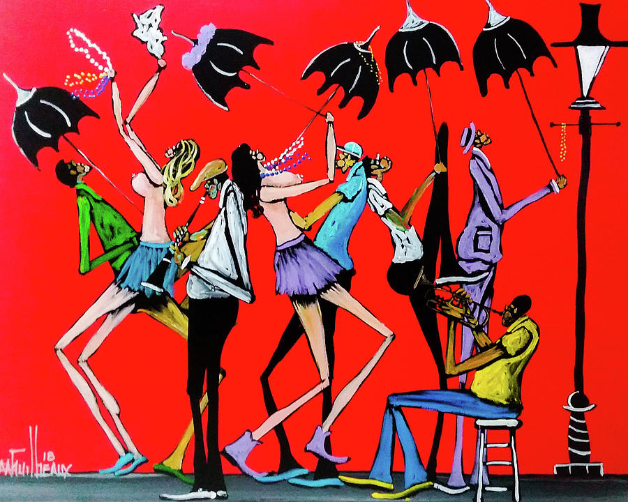 Jazz Painting - Just Playing by Guilbeaux Gallery
