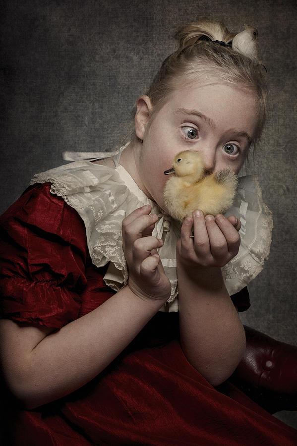 Portrait Photograph - Just So Sweet by Monika Vanhercke