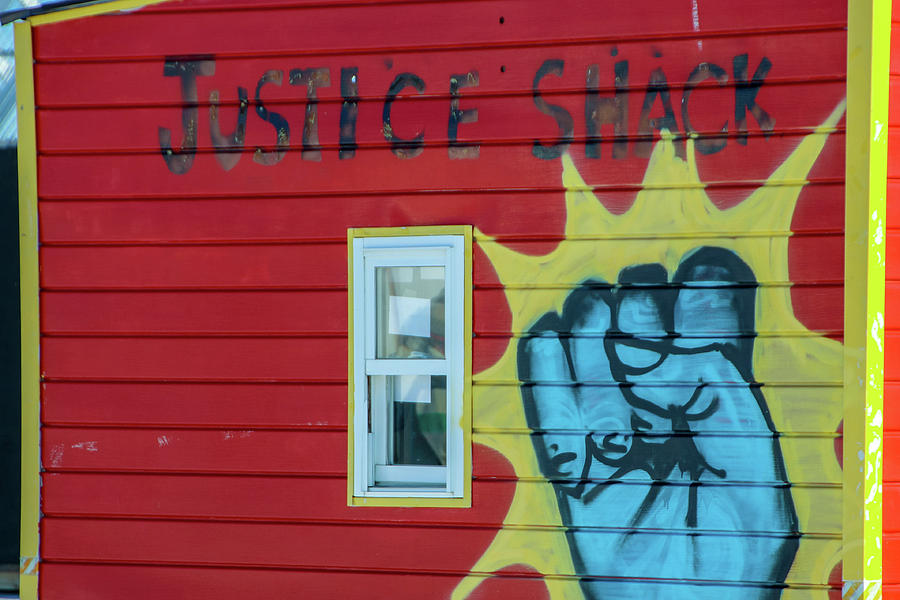 Justice Photograph - Justice Shack by Laura Smith