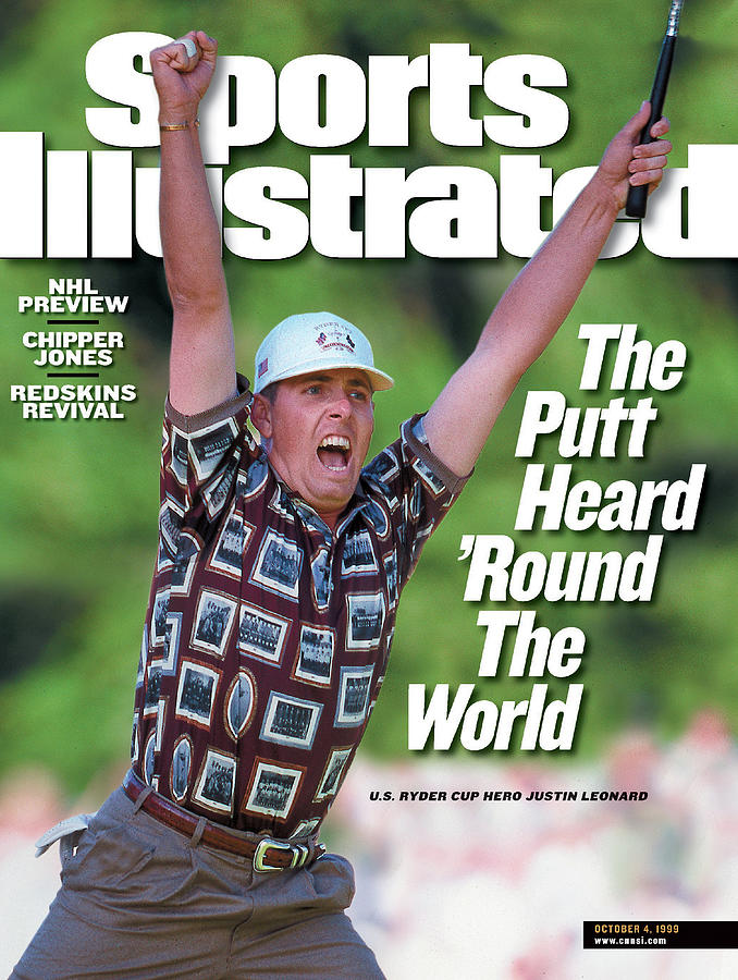 Justin Leonard, 1999 Ryder Cup Sports Illustrated Cover Photograph by Sports Illustrated
