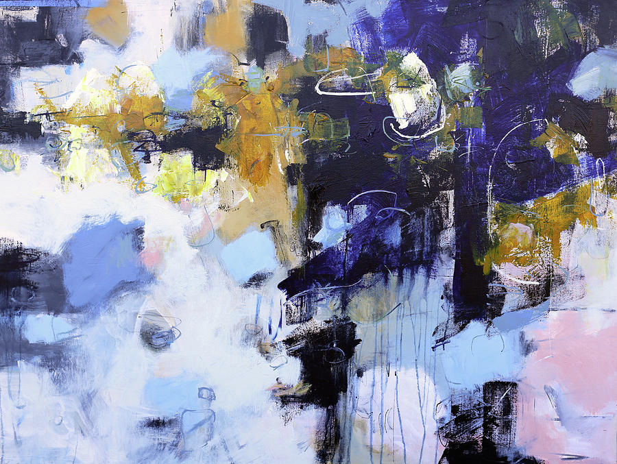 Abstract Painting Painting - Juxtapose by Elizabeth Chapman