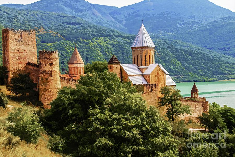 Jvari Monastery in Georgia by Susan Vineyard