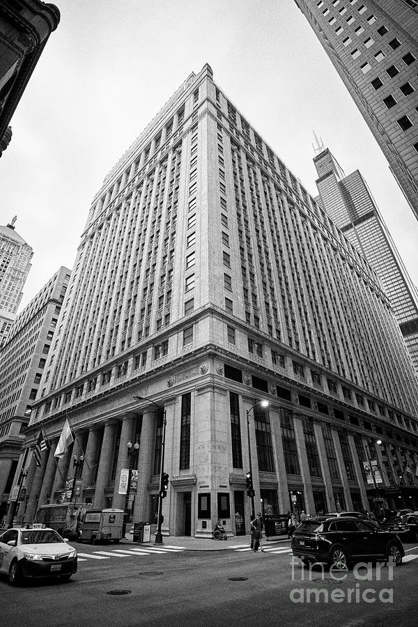 Chicago Photograph - Jw Marriott Hotel Formerly The City National Bank And Trust Headquarters Building Chicago Illinois U by Joe Fox