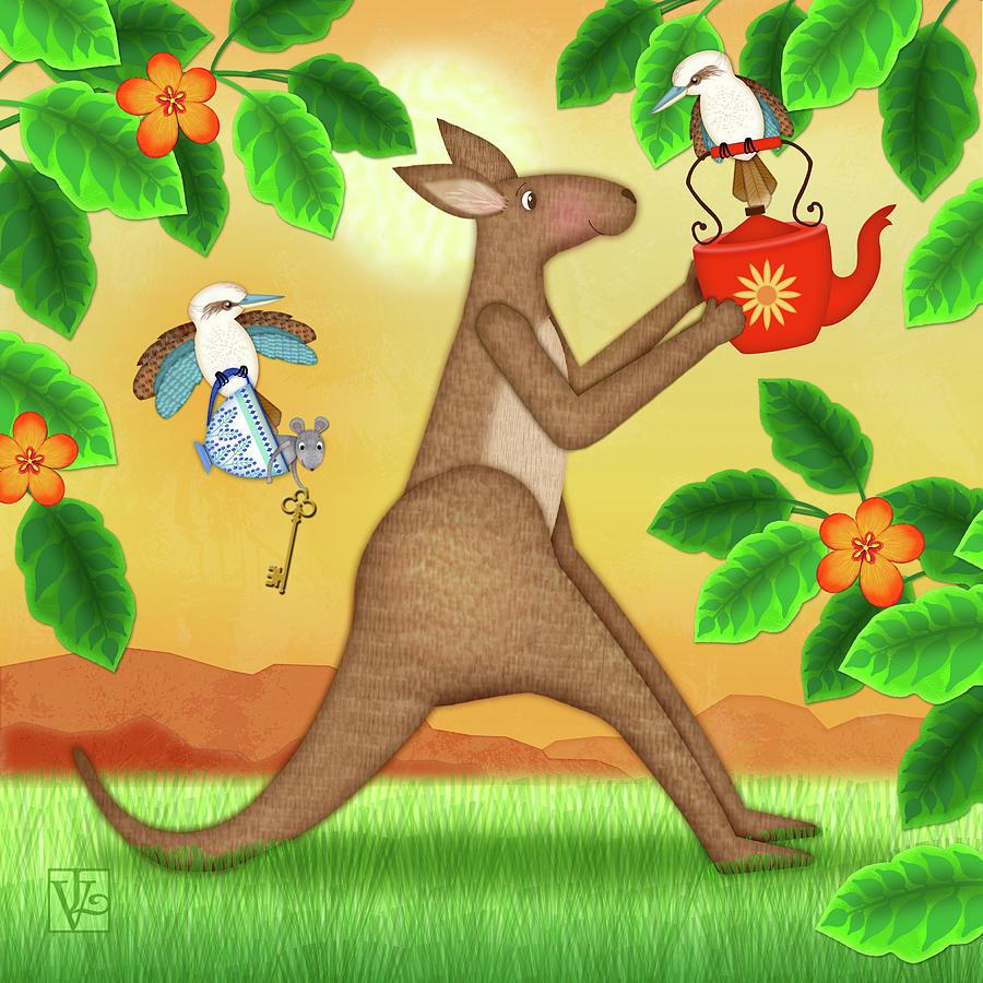 K is for Kangaroo and Kookaburra by Valerie Drake Lesiak