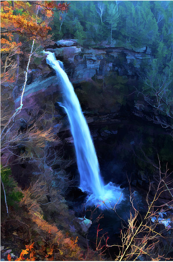 Kaaterskill Falls Autumn by NANCY DE FLON