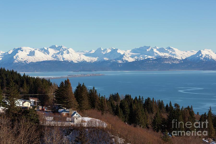 Homer Photograph - Kachemak Bay And Homer Alaska by Louise Heusinkveld