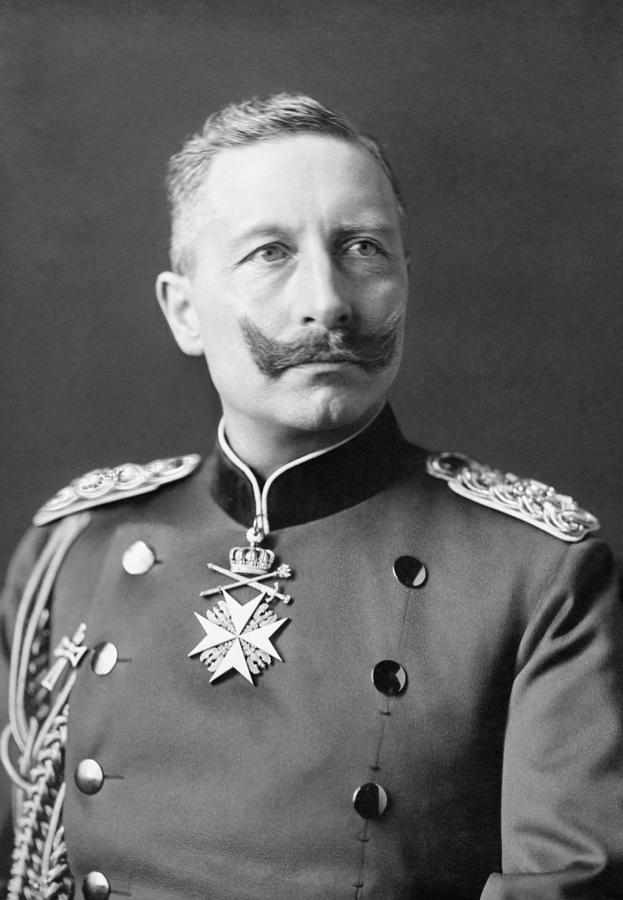Wilhelm Ii Photograph - Kaiser Wilhelm II Portrait - 1902 by War Is Hell Store
