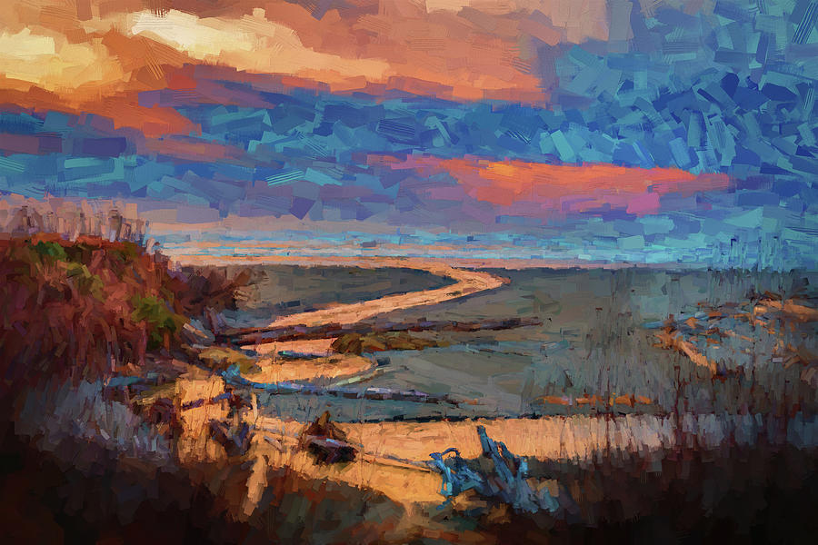 Pacific Ocean Painting - Kalaloch Creek 54 by Mike Penney