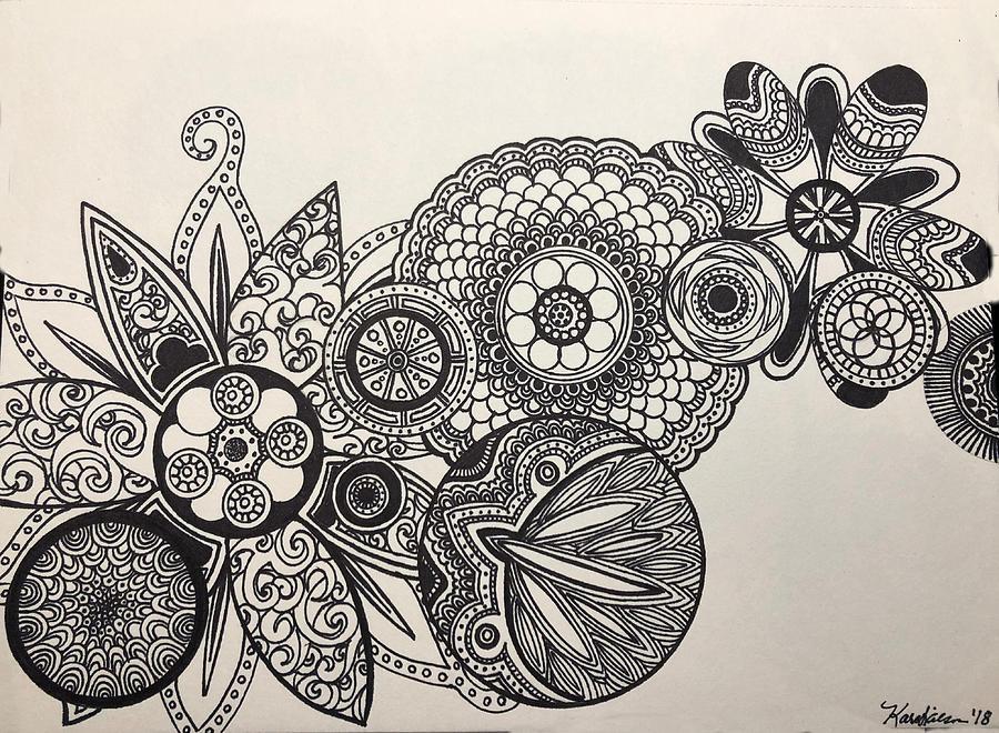 Kaleidoscope  Drawing by Kara Wilson