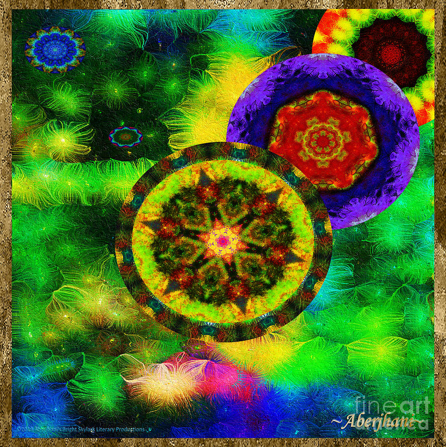 Moon Mixed Media - Kaleidoscope Moon For Children Gone To Soon Number - 3 Intensified  by Aberjhani