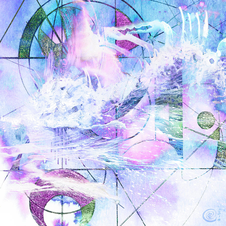 Kaleidoscope Mixed Media - Kaleidoscope Sea by Chris Cole
