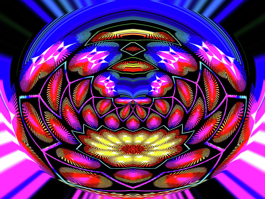 Crystal Ball Photograph - Kaleidoscopic Krystal Ball by Bruce IORIO