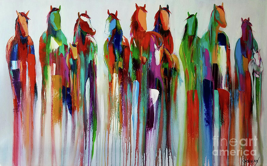 Horse Painting - Kalidescope by Cher Devereaux