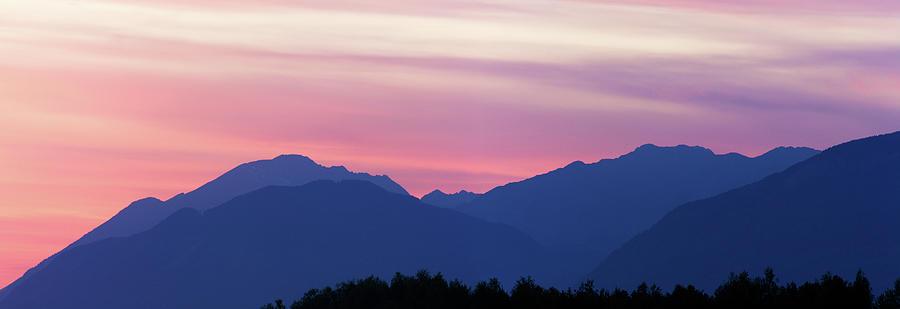 Kamnik Alps sunset by Ian Middleton
