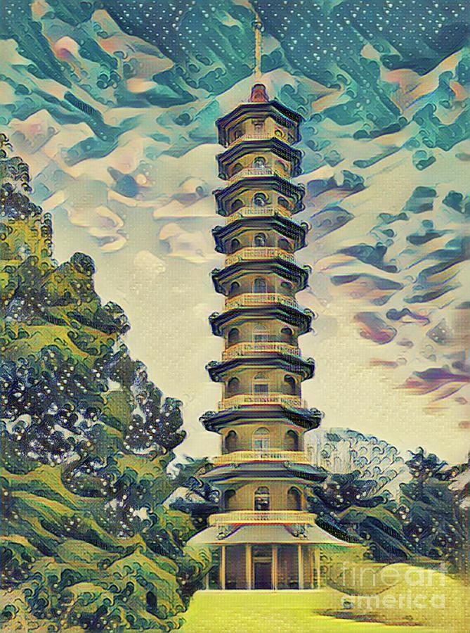 Kanagawa - Pagoda -  Kew Gardens by Leigh Kemp
