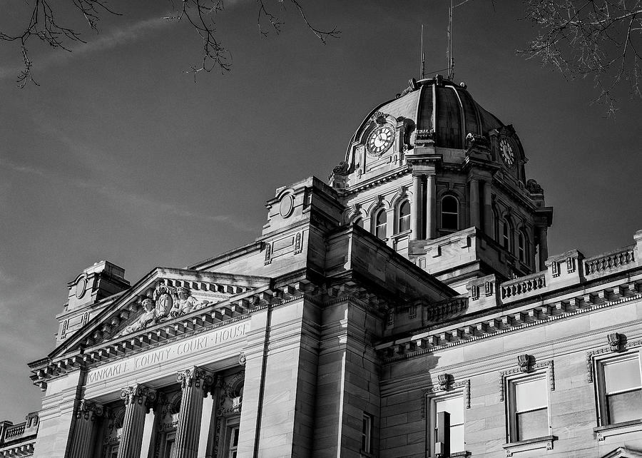 Kankakee Photograph - Kankakee County Courthouse - #1 by Stephen Stookey