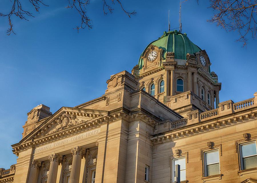 Kankakee Photograph - Kankakee County Courthouse - #2 by Stephen Stookey