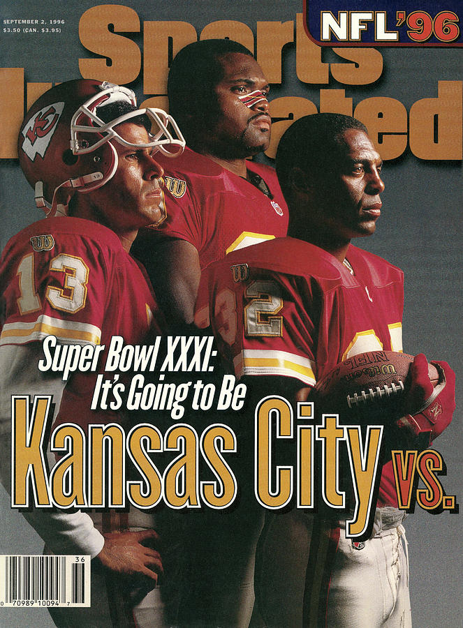 Kansas City Chiefs, 1996 Nfl Football Preview Issue Sports Illustrated Cover Photograph by Sports Illustrated