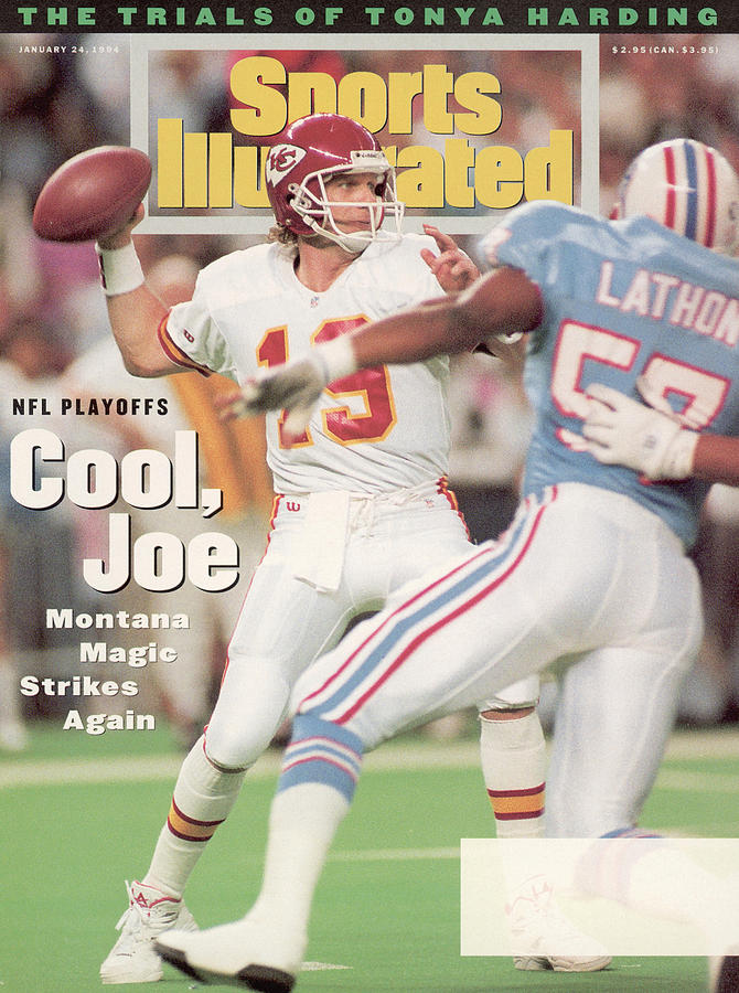 Kansas City Chiefs Qb Joe Montana, 1994 Afc Championship Sports Illustrated Cover Photograph by Sports Illustrated