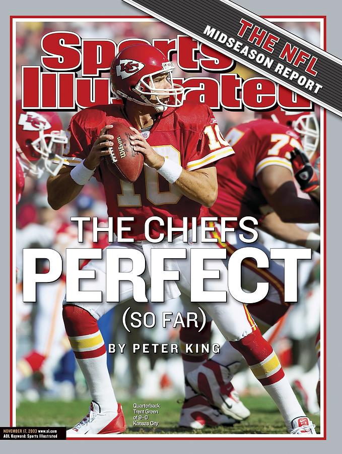 Kansas City Chiefs Qb Trent Green... Sports Illustrated Cover Photograph by Sports Illustrated
