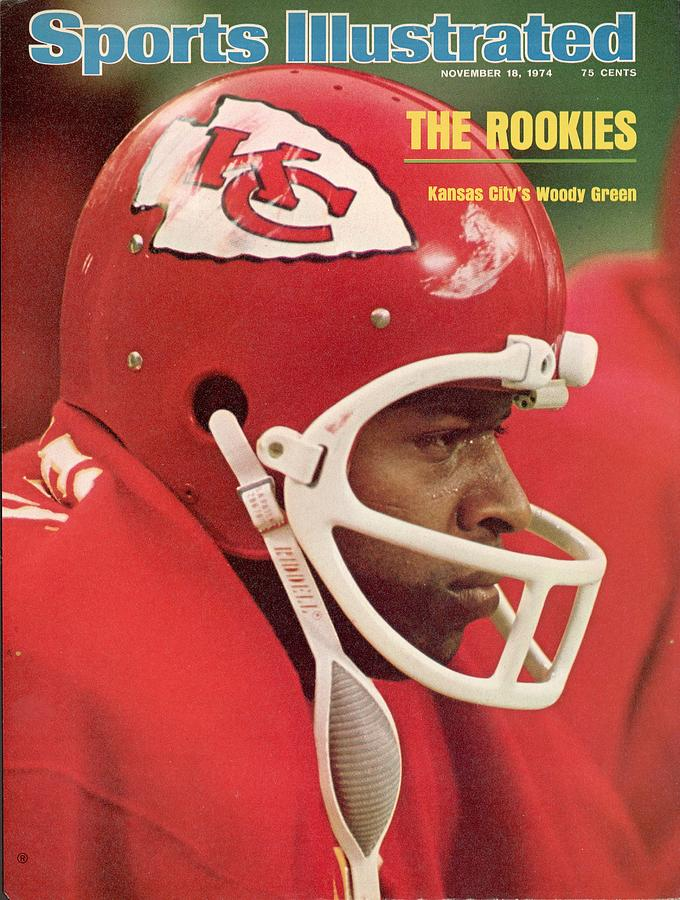 Kansas City Chiefs Woody Green Sports Illustrated Cover Photograph by Sports Illustrated