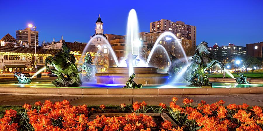 Kansas City J.c. Nichols Memorial Fountain Panorama Photograph