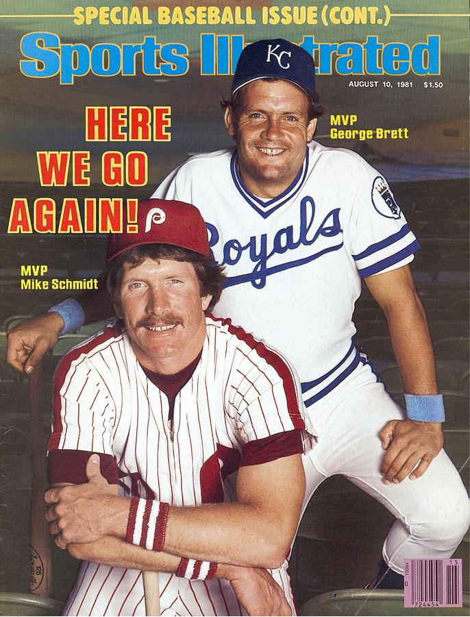Kansas City Royals George Brett And Philadelphia Phillies Sports Illustrated Cover Photograph by Sports Illustrated