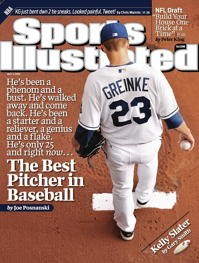 Kansas City Royals Zack Greinke Sports Illustrated Cover Photograph by Sports Illustrated