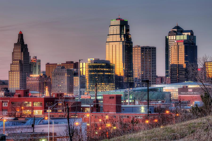 Kansas City Skmyline At Dusk Photograph by Eric Bowers Photo