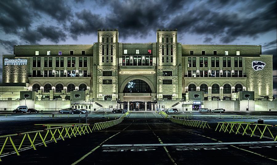 Bill Snyder Family Stadium Photograph - Kansas State University Nights by JC Findley