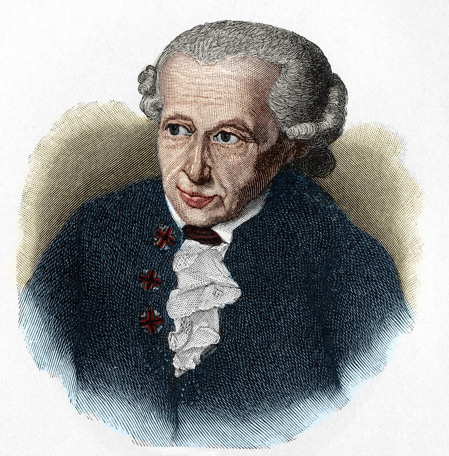 Kant Drawing - Kant, 1724-1804 German Philosopher by European School