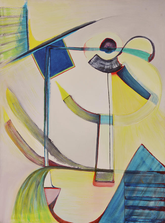 Geometric Abstracts Painting - Kanwon by David Douthat