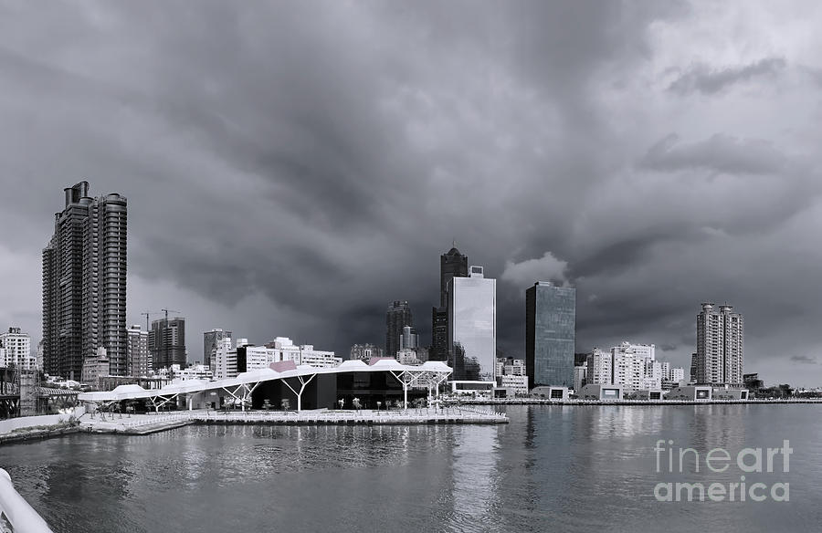 Kaohsiung Waterfront with Dramatic Sky by Yali Shi