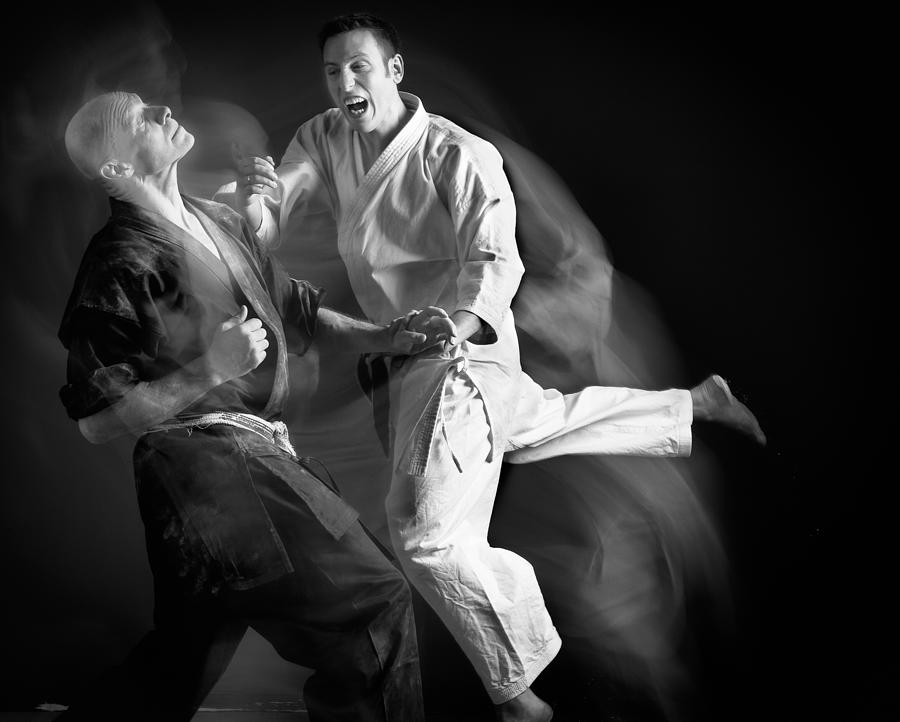 Action Photograph - Karate #2 by Hilde Ghesquiere