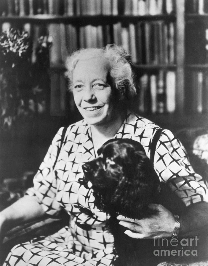 Karen Horney With Pet Dog Photograph by Bettmann