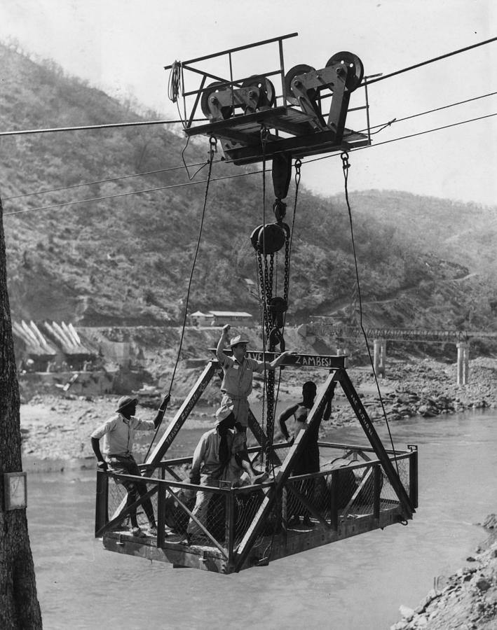 Elevator Photograph - Kariba Dam Site by Central Press