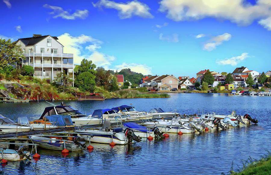 Karlskrona Inner Harbor View by Anthony Dezenzio