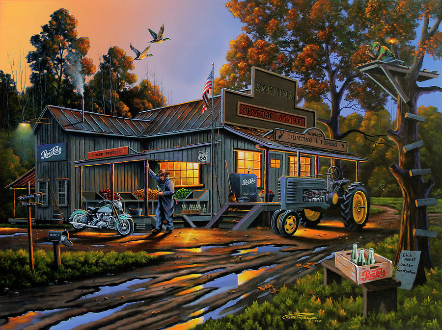 General Store Painting - Karmin?s General Store by Geno Peoples