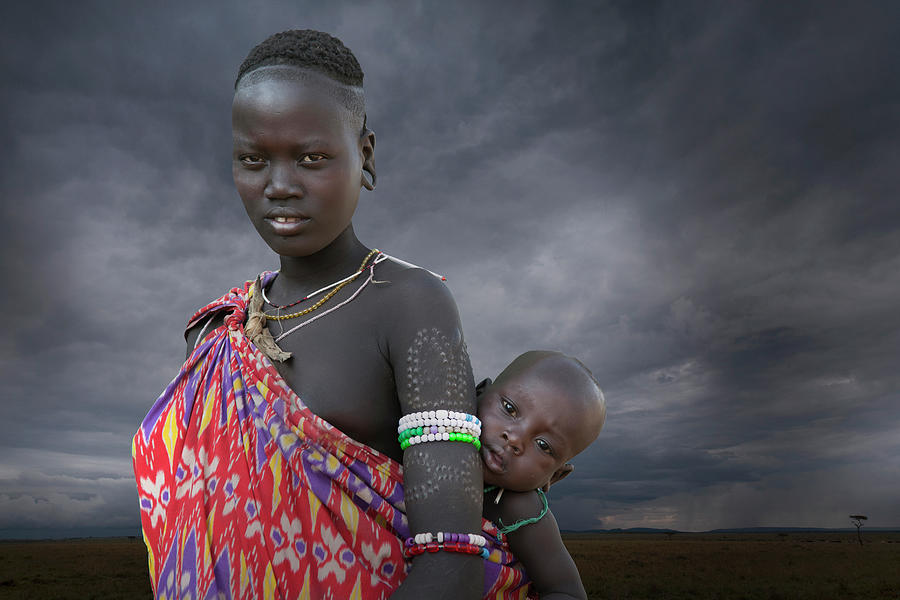 Karo Tribe  Woman With Child Photograph by Buena Vista Images