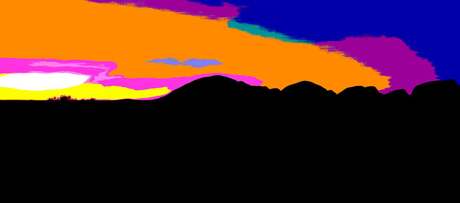 Kata Tjuta Sunset #2 - Pop Art by Lexa Harpell