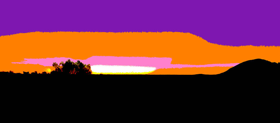 Kata Tjuta Sunset #3 - Pop Art by Lexa Harpell