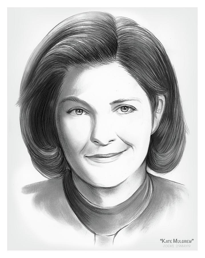 Kate Mulgrew Drawing - Kate Mulgrew by Greg Joens