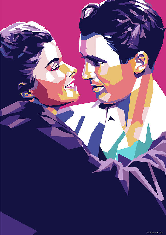 Katharine Hepburn And James Stewart Digital Art