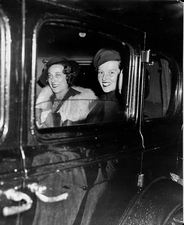 Katharine Hepburn Right And Mrs Photograph by New York Daily News Archive