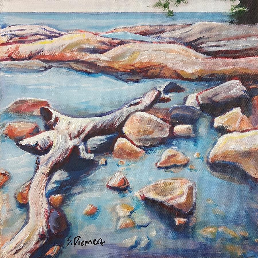 Katherine Cove In Lake Superior Provincial Park - 021 Of Celebrate Canada 150 Painting